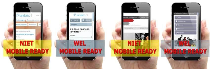 Hoog in Google met je Mobiele Website