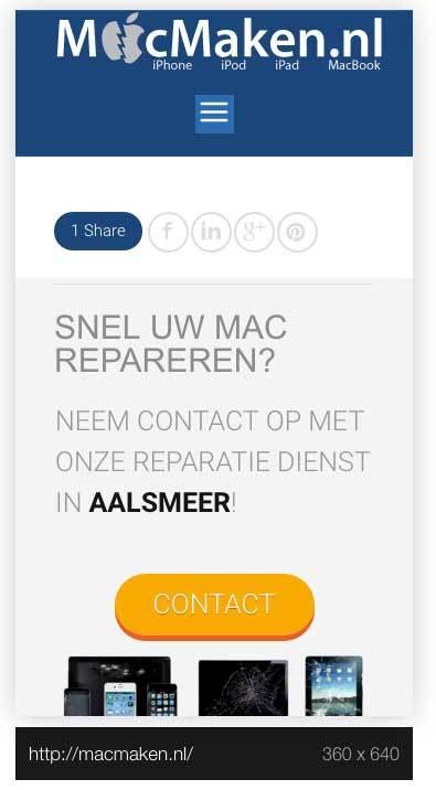 mobiele website mac maken